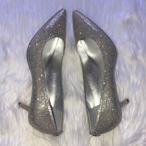 MICHAEL KORS glitter kitten heel New in box